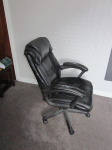 This is a current photo of the chair